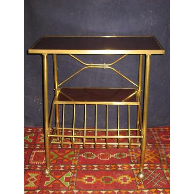 Serving Table With Magazine Rack 20th