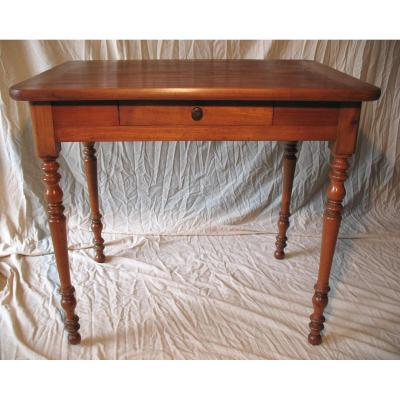 Small Desk Louis-philippe Period In Cherry Wood