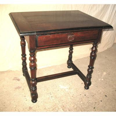 Louis XIV Desk Table In Walnut Origin Périgord