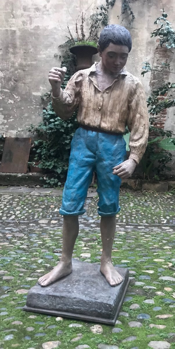 Sculpture En stuc :  l'Enfant à La Fronde
