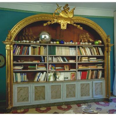 Grande Bibliothèque Style Directoire Maison Jansen