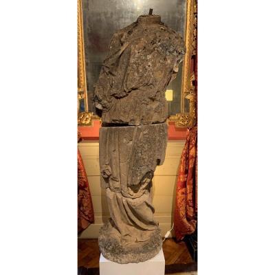 Statue En Pierre Dans Le Goût De l'Antique