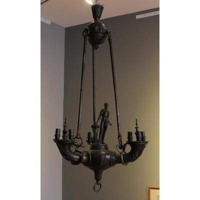 Lustre En Bronze De Otto Schmidt Hofer