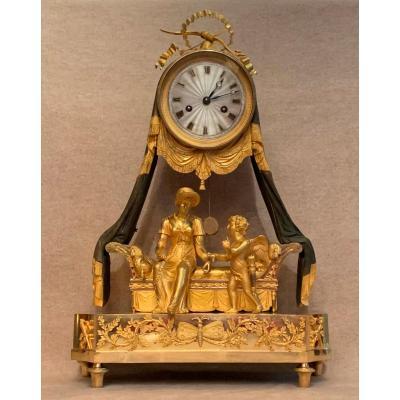 Romantic Gilt Bronze Clock
