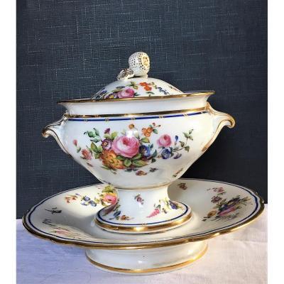 Confiturier Porcelaine de Paris XIXème