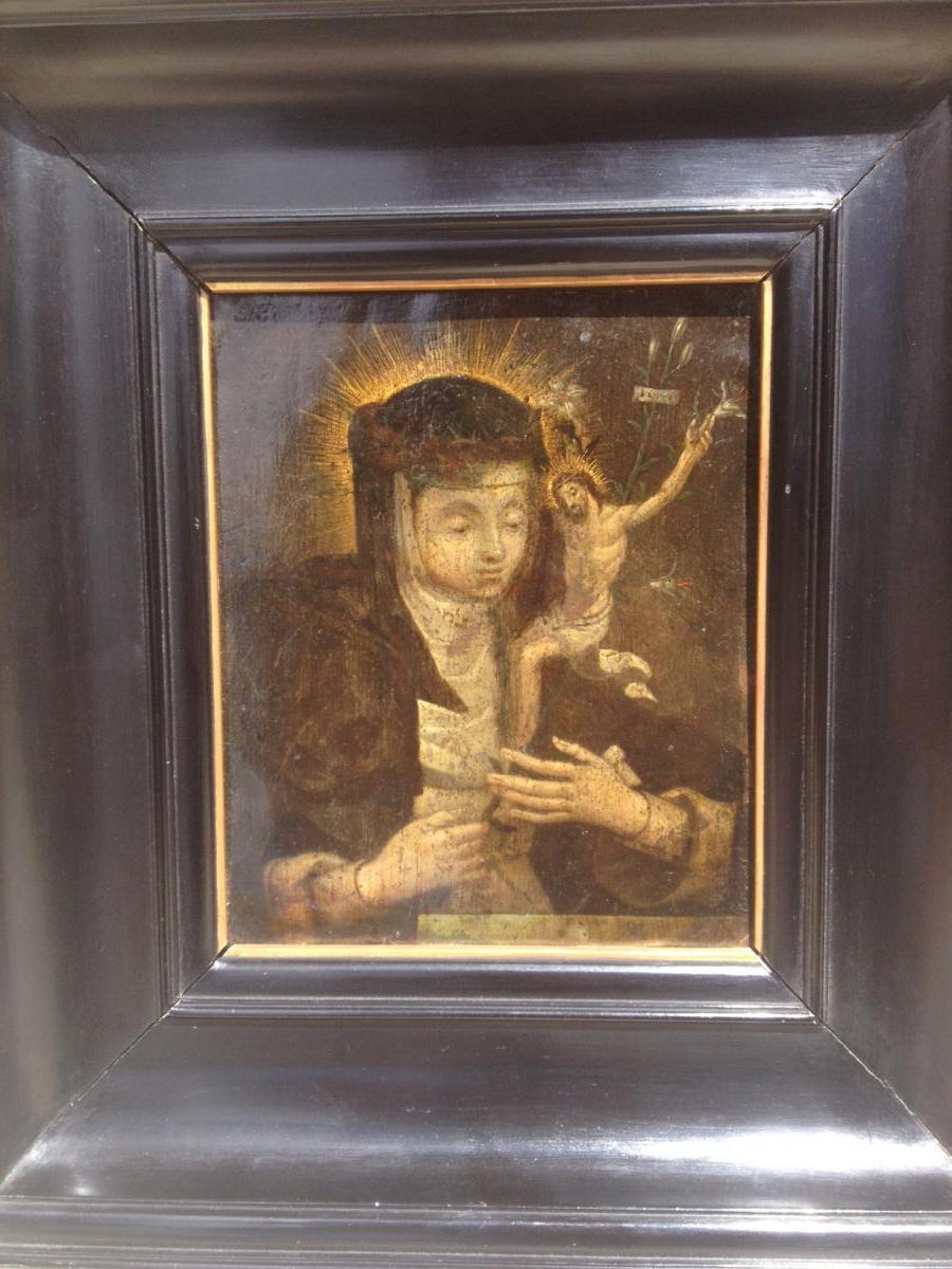 peinture sur cuivre cole italienne du xvii me tableaux religieux. Black Bedroom Furniture Sets. Home Design Ideas