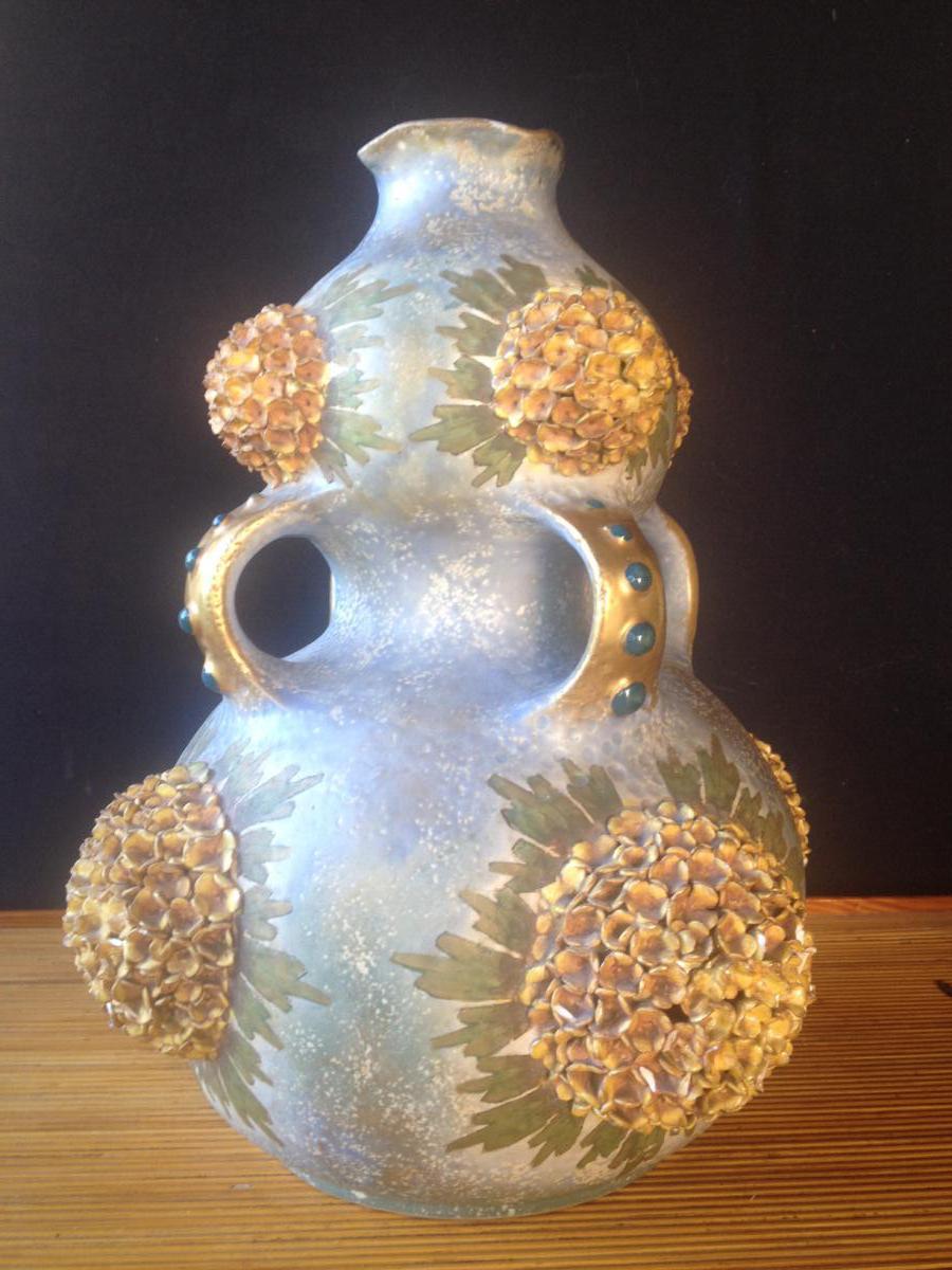 """Vase Porcelaine Signé"""" Amphora"""""""