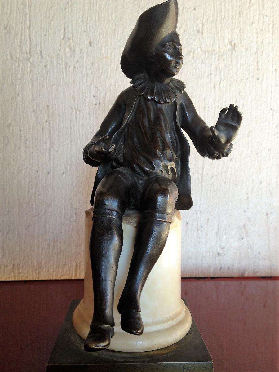 """Bronze XIXème """" Arlequin """""""