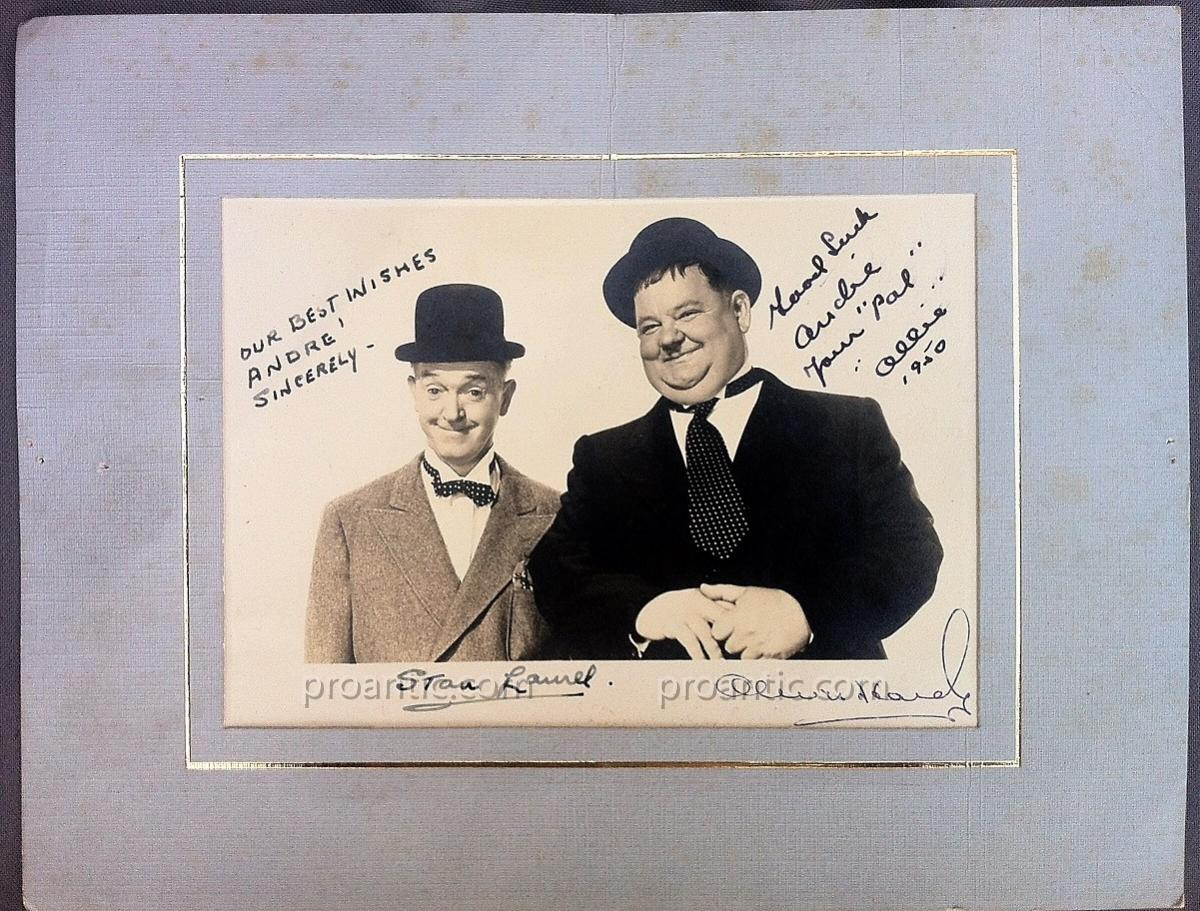 "Photo Carte dédicacée ""Laurel et Hardy"""