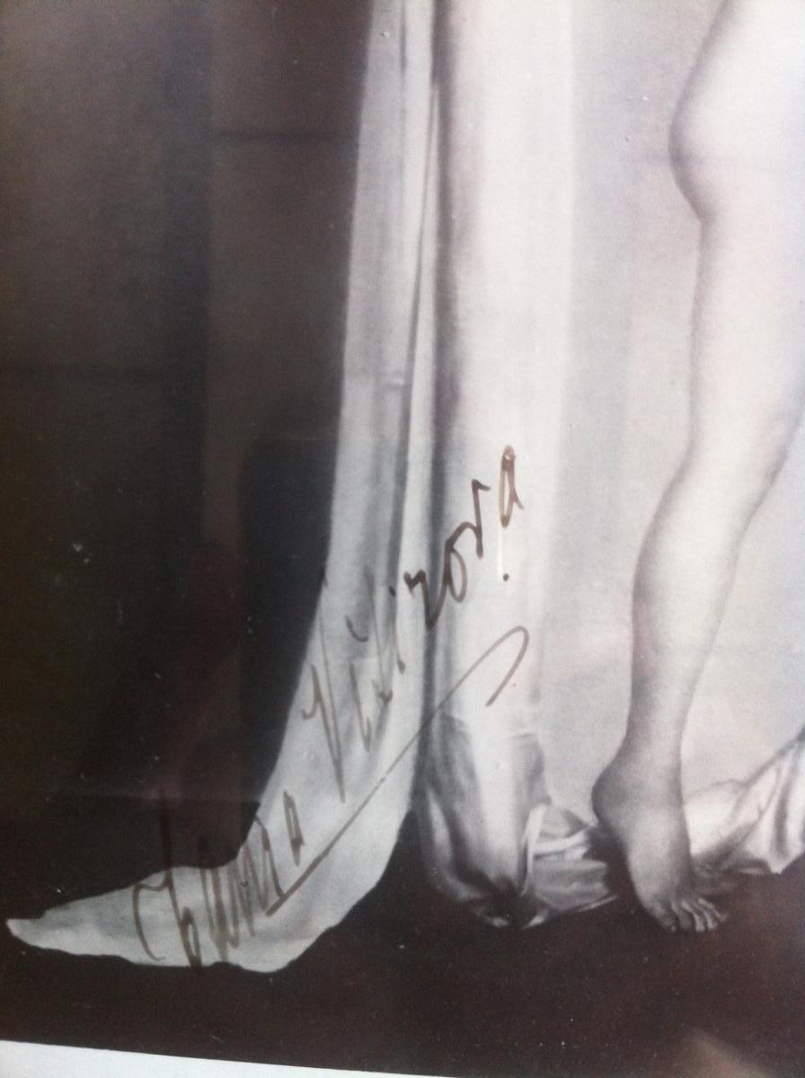 Photo de Tania Visirova danseuse, dédicace signée