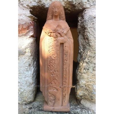 Vierge en Terre cuite H.REY 1904/1981