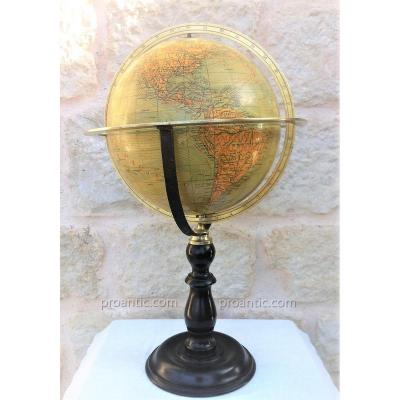 "Earth Globe ""ikelmer Paris"" XIX"