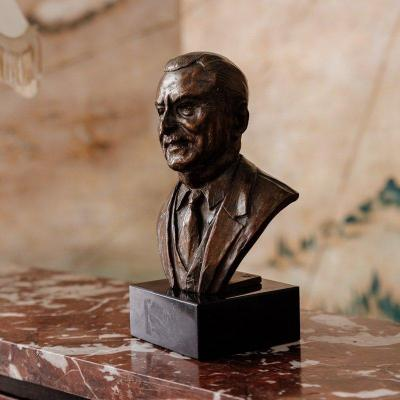 Bronze Male Bust - Signed A.nicolle - XXth