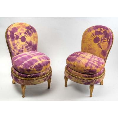 Pair Of Art Deco Armchairs - Jean-paul Gautier Leather - Art Deco Period