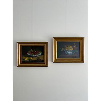 Oils On Realistic Panel - Still Life - Mid XIXth Century - Circa: 1850 - 1870