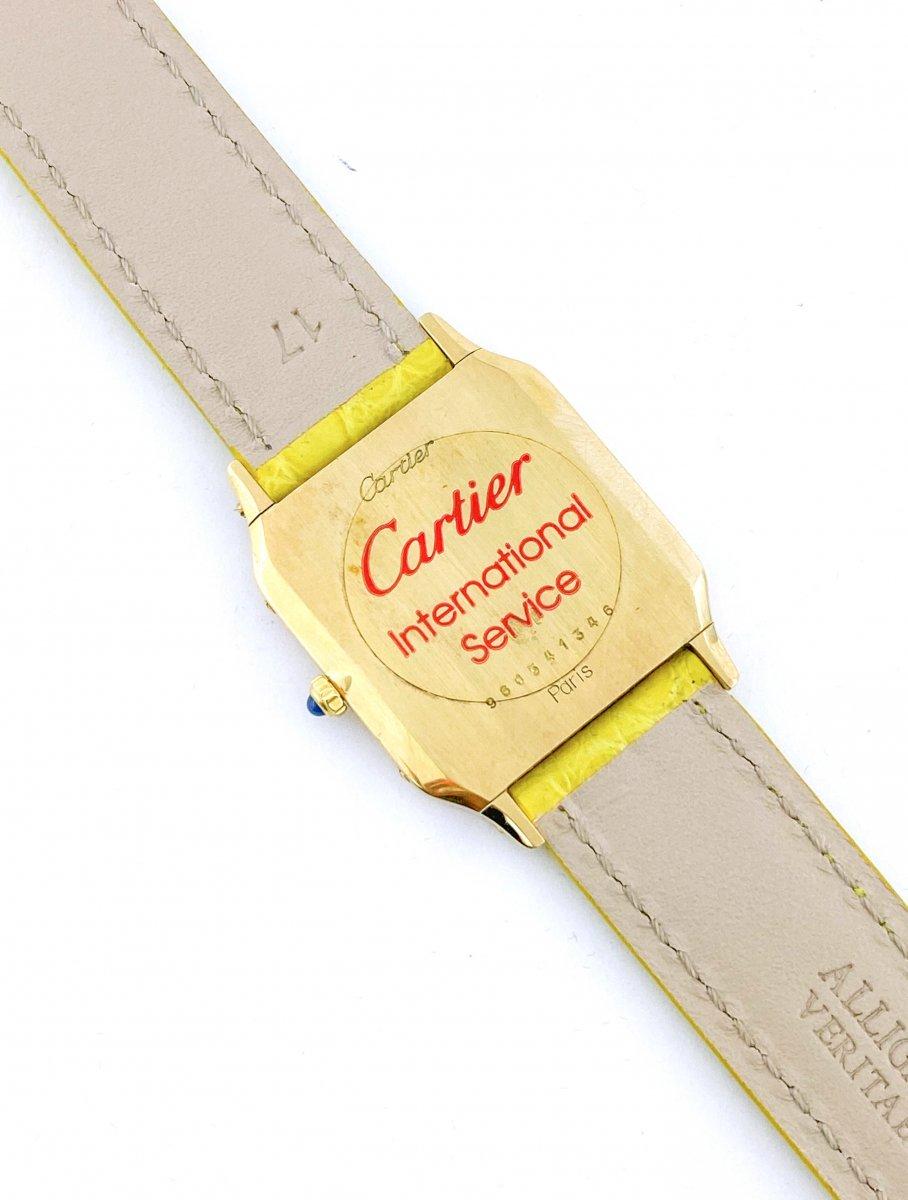 Montre Cartier Santos Dumont - Ultra-plate - Or Jaune - Unisexe