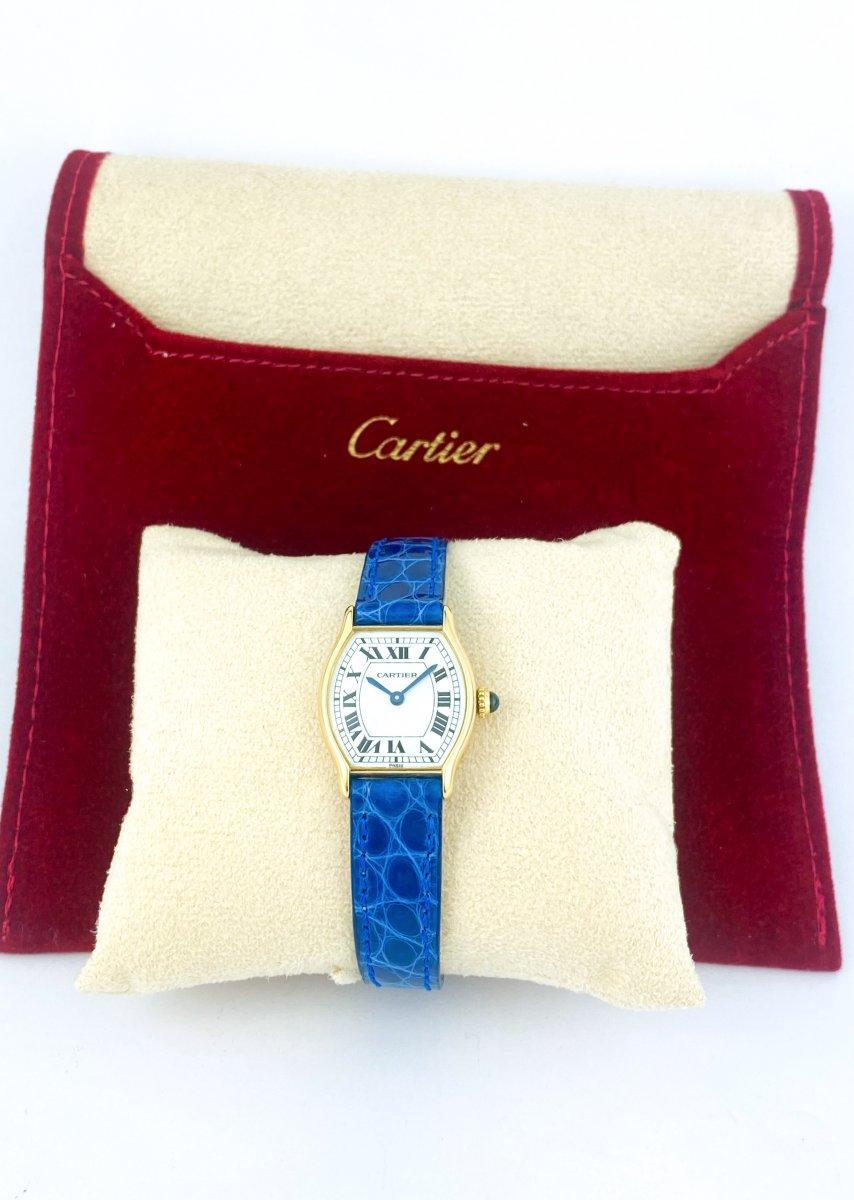 Cartier Tortue Watch - 18k Yellow Gold-photo-2