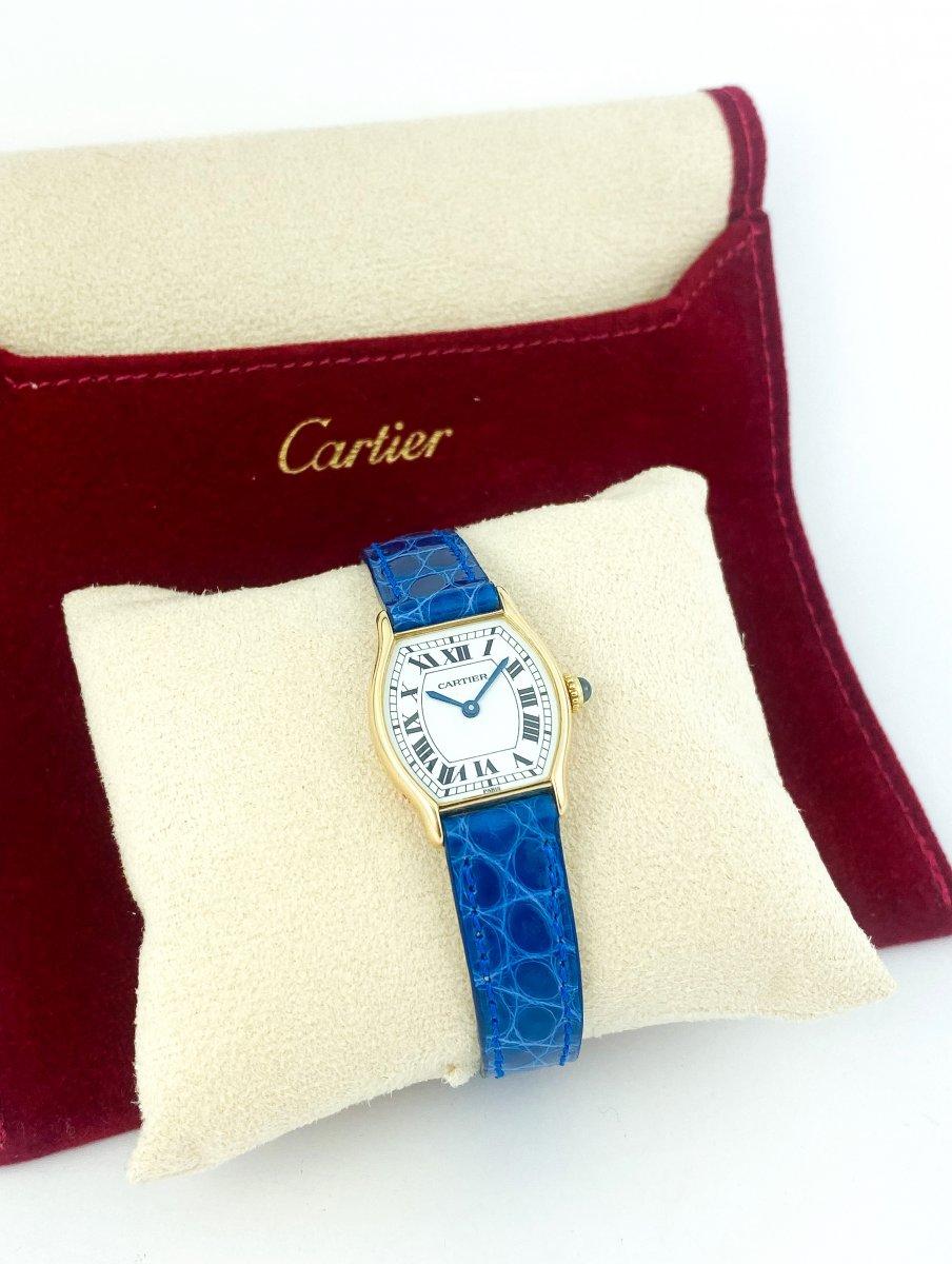 Cartier Tortue Watch - 18k Yellow Gold-photo-3