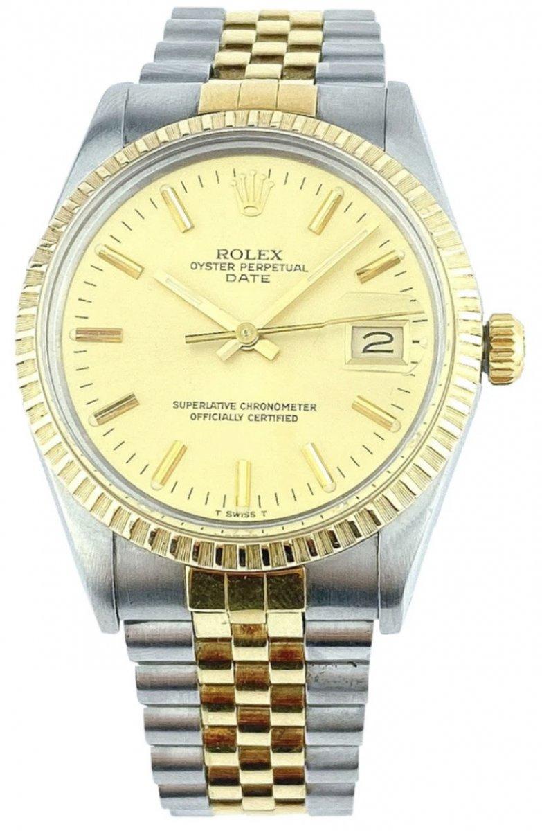 Rolex Watch - Oyster Perpetual Date 34mm - Ref. 15053 - Full Set