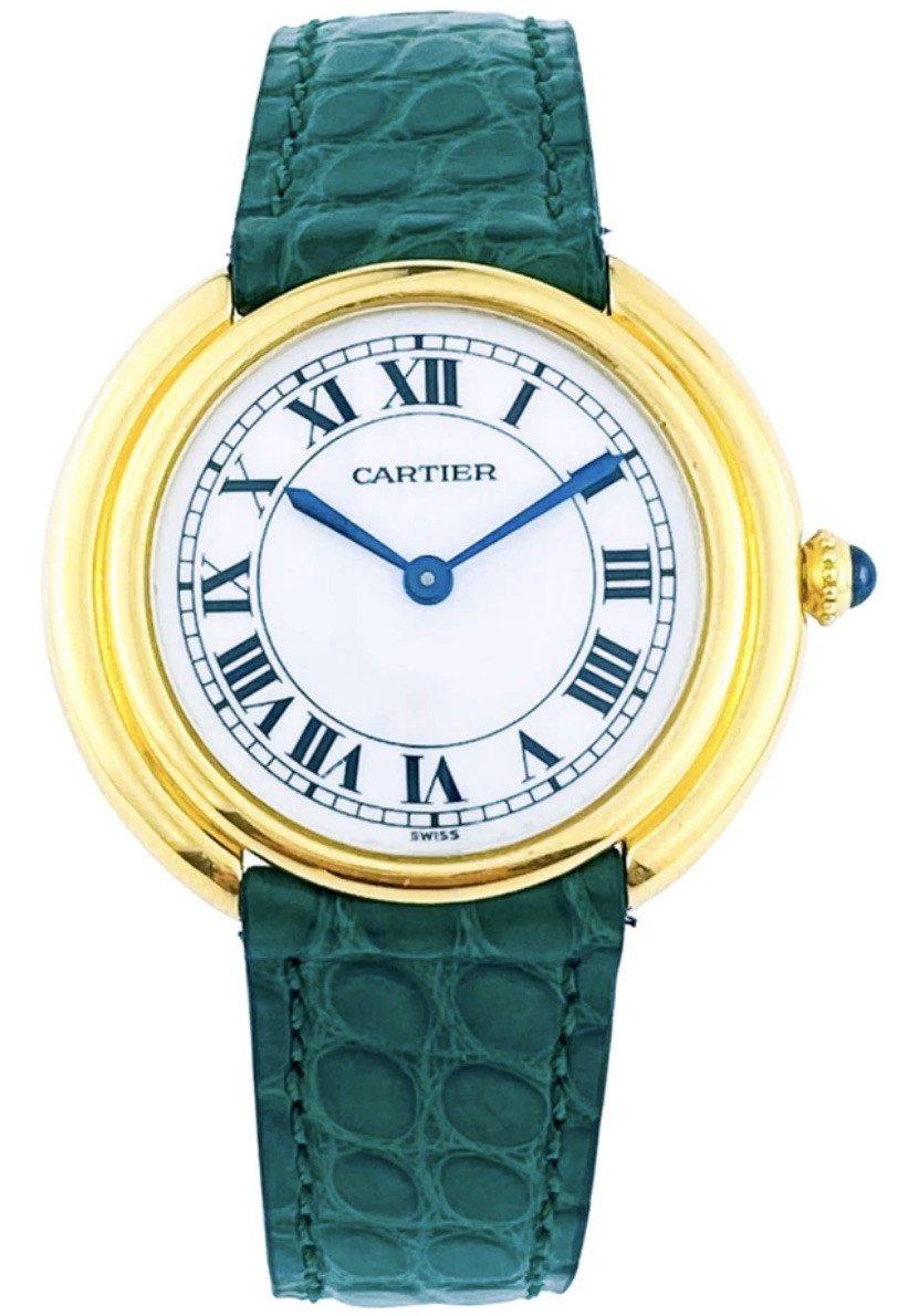 Montre Cartier - Vendôme Ellipse Ronde - Or Jaune - Grand Modèle (unisexe)