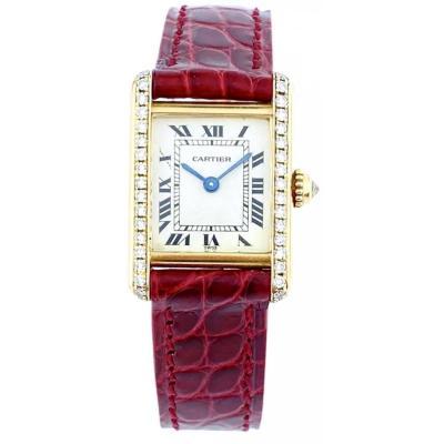 Cartier Tank Louis Cartier Mini Yellow Gold Diamonds Watch