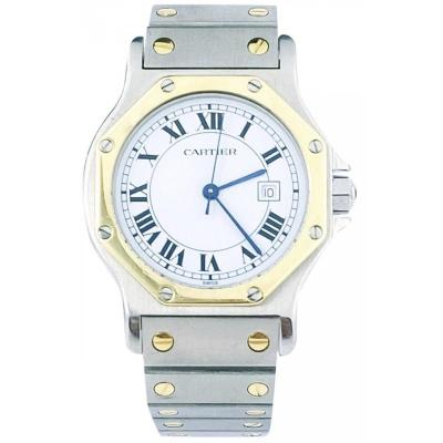 Cartier Watch - Santos Octagonal, Automatic - Gold Steel - Unisex With Certificate