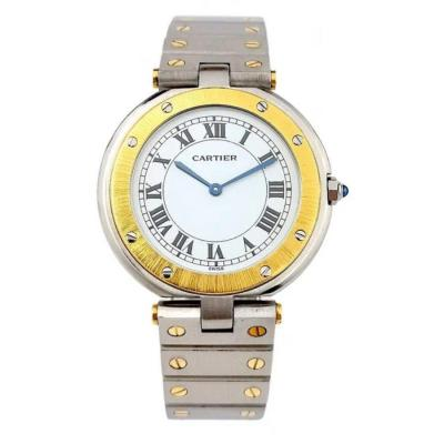 Cartier Santos Vendome Watch - Gold / Steel - Large Model (unisex)