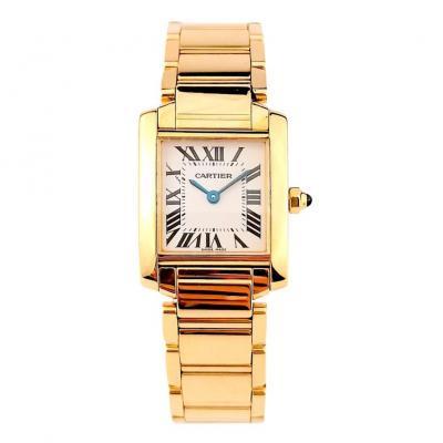 Cartier Watch - Tank Française - Yellow Gold - Small Model.