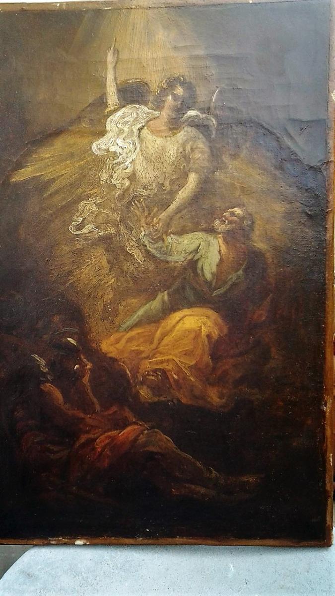 La Délivrance De Saint Pierre, Esquisse Italienne Du XVIII° Siècle