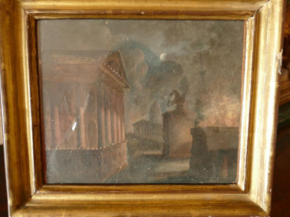 Ecole Française Du XVIIème Siècle, Incendie dans les ruines