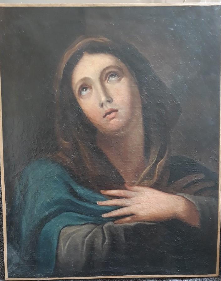 Vierge En Adoration, Ecole Italienne Du XVIII° Siècle