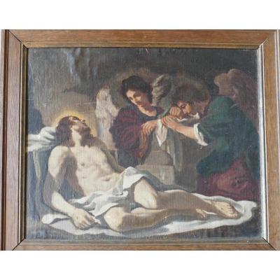Anges Pleurant Sur La Mort Du Christ