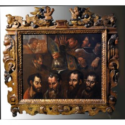 Jorge Manuel Theotocopuli (1578-1631), Ecole espagnole du XVIIème siècle, Etude de têtes