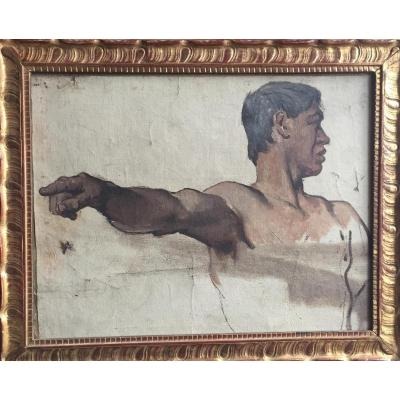 Study Of Man, French School Of The XIXth Century