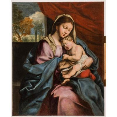 Vierge à l'Enfant, Attribué à Vincent Plassard