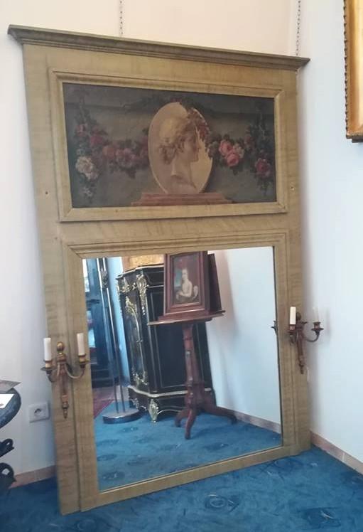 Grand Miroir Trumeau Fin Du XIXème Siècle
