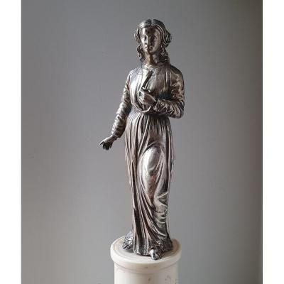 Silver Statue, Part Of A Reliquary Shrine, 17th Century