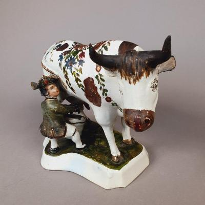 A Dutch Polychrome Model From Delft, 18th Century