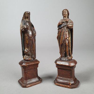 Two Miniatures Of Catharina And John The Baptist, XVI