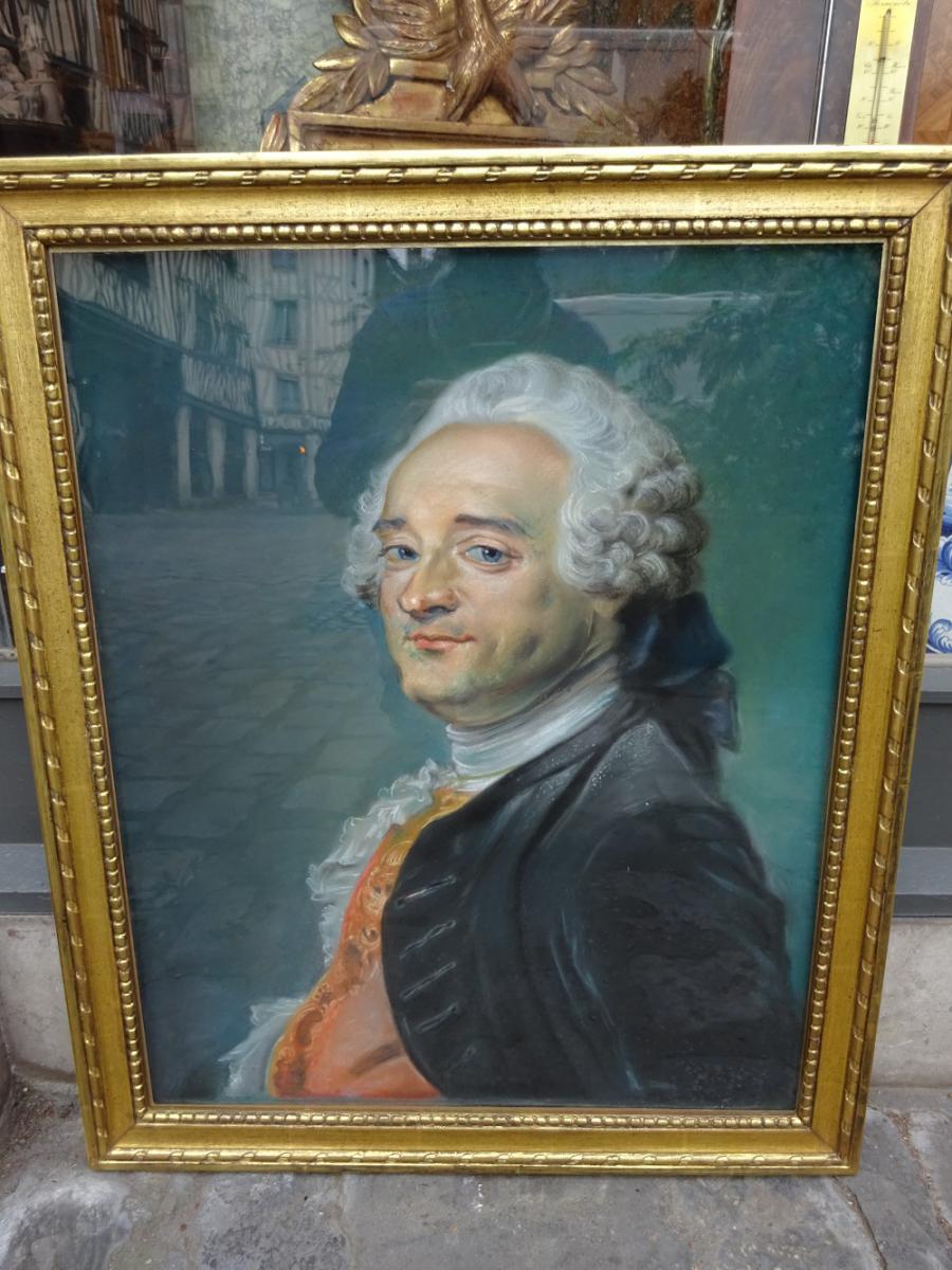 """d'aprés Jean  Baptiste Perroneau """"portrait de Maurice Quentin de la Tour"""