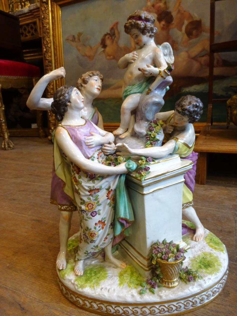 Important Groupe En Porcelaine De Paris XIX Eme