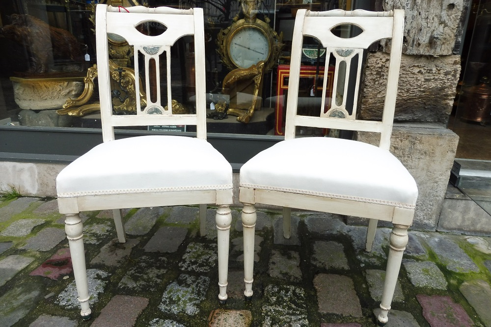 Pair Of Directoire Chairs