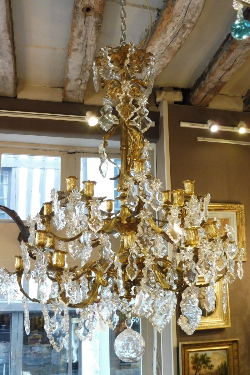 Important Rocaille Style Chandelier At 24 Lights