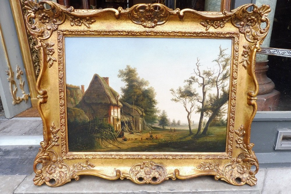 Huile  Sur Toile  De l'école  Française Vers 1850  ,