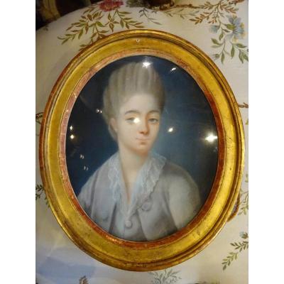 "Pastel  XVIII Eme ""la Comtesse Dubarry """
