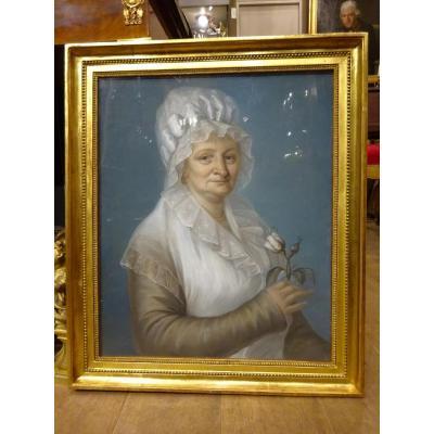 """Pastel  """"portrait De Femme """""""
