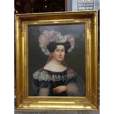 Portrait Of Woman Around 1830
