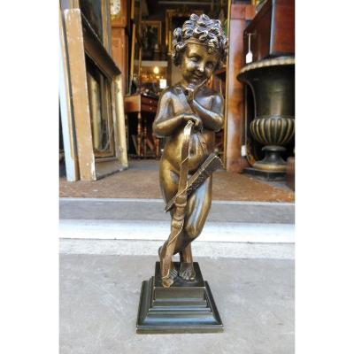 Sculpture  En  Bronze  Signée Alfred Habert