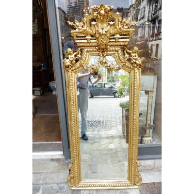 Important Stucco Mirror Gilded In Oil Circa 1880