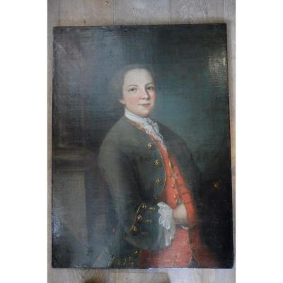 Portrait d'Un  Jeune  Gentilhomme  18 Eme